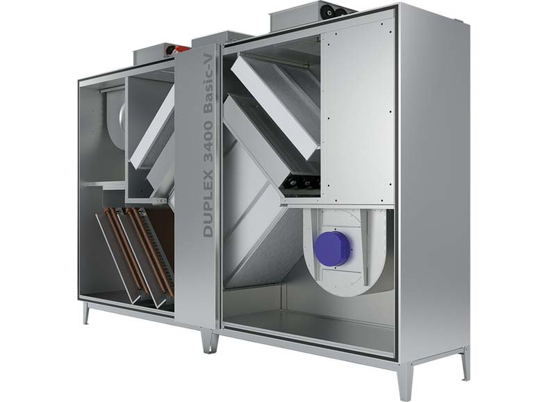 Климатични агрегати DUPLEX Basic-V с топлообменници с кръстосан поток