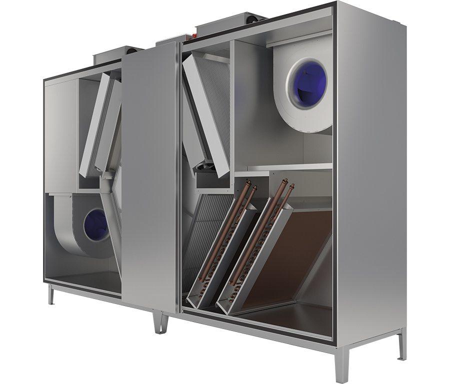 Вентилационни стоящи модули DUPLEX 1500–6500 MultiEco-V