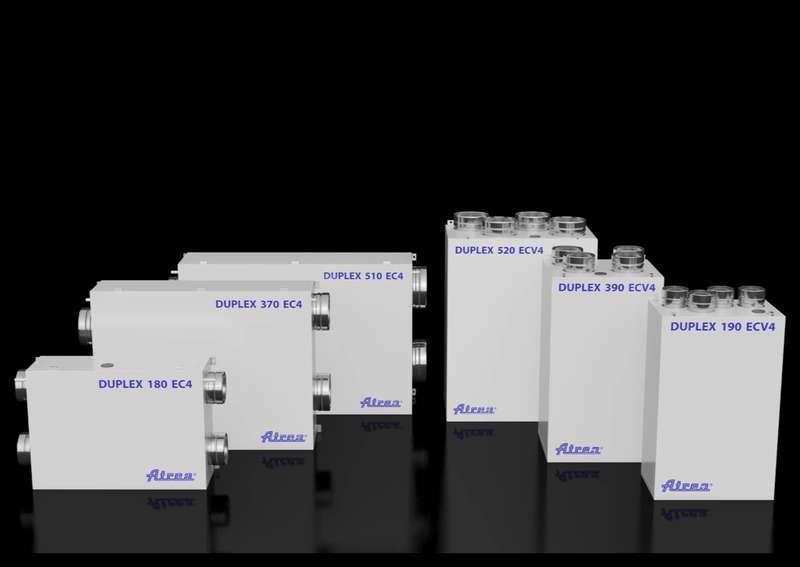 Компактни вентилационни камери за дома DUPLEX EC5, ECV5 от Атреа